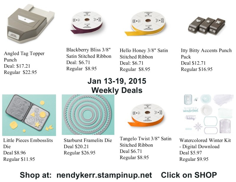 Weekly Deals for January 13-19, 2015
