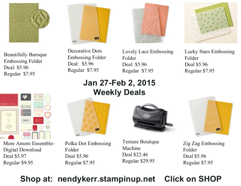 Weekly Deals January 27 to February 1, 2015