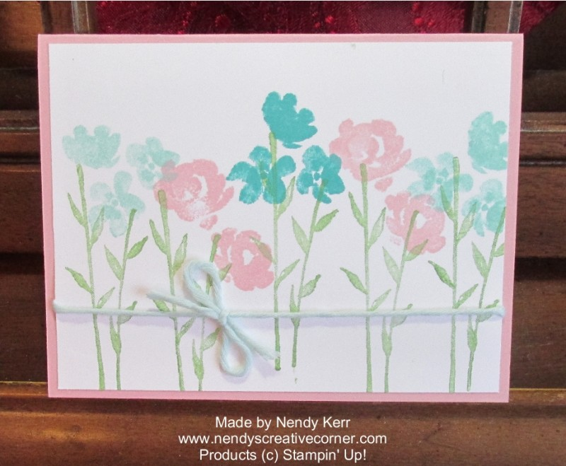 Painted Petals Two Step Stamping card