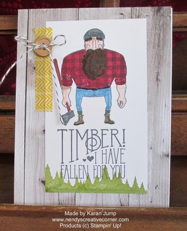 Wood You Be Mine? Man's Valentine card