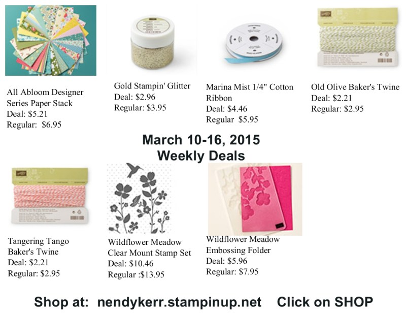 Stampin' Up! Weekly Deals for March 10-16, 2015