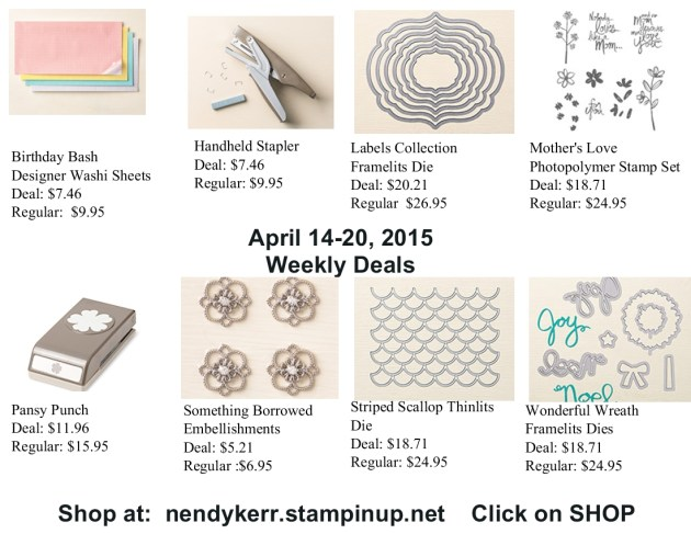 Weekly Deals April 14-20, 2015
