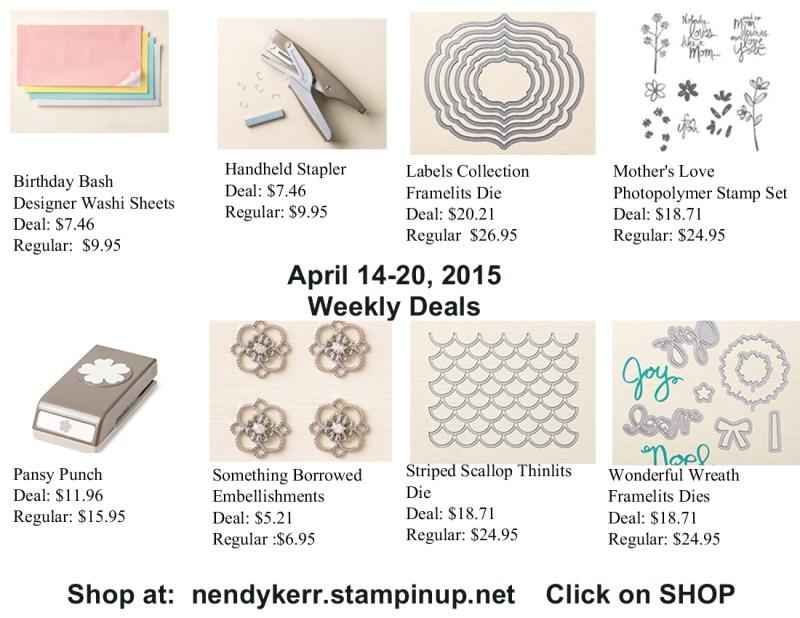 Weekly Deals April 14-20, 2015