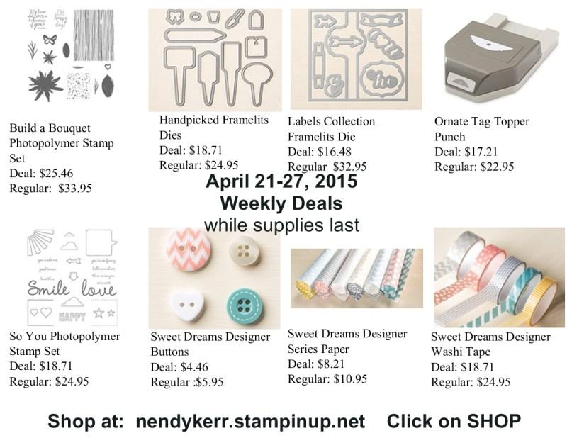 Weekly Deals April 21-27, 2015