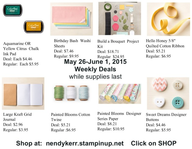 Weekly Deals for May 26-June 1, 2015