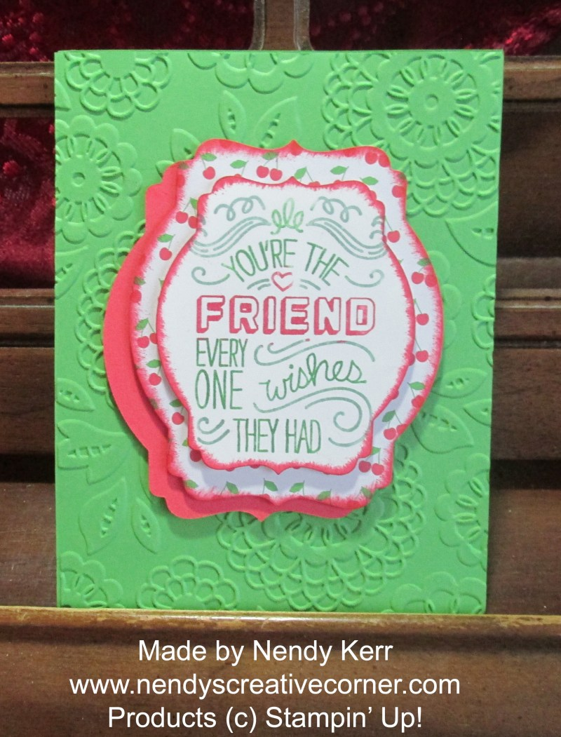 Best Friend Card in Cucumber Crush and Wonderful Watermelon