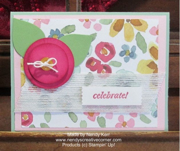 English Garden Punch Art Flower Card