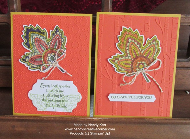 Lighthearted Leaves Cards