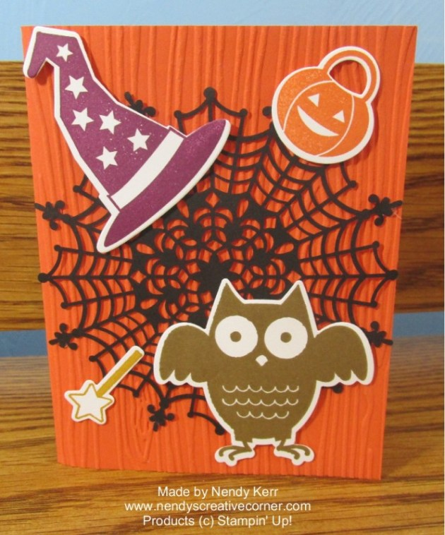 Howl-O-Ween Spider Web card