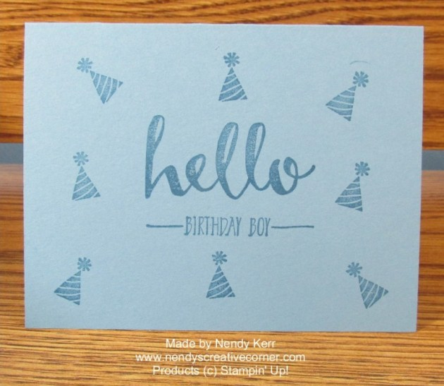 Quick and Easy Hello Card
