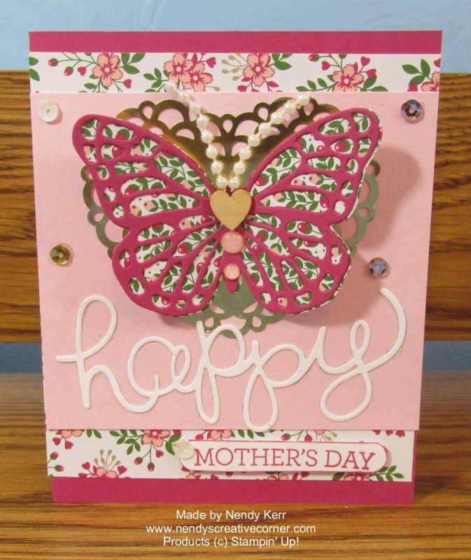 Love Blossoms Embellishment Kit Butterfly Card