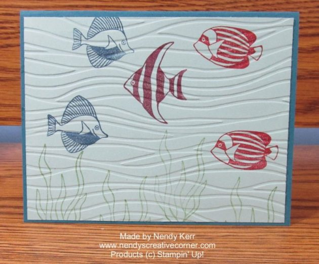 Seaside Shore Fish Card