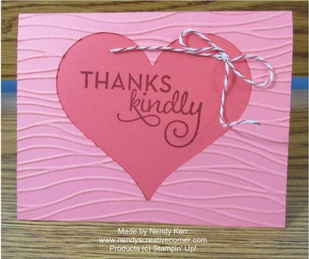 Thanks Kindly Heart Card