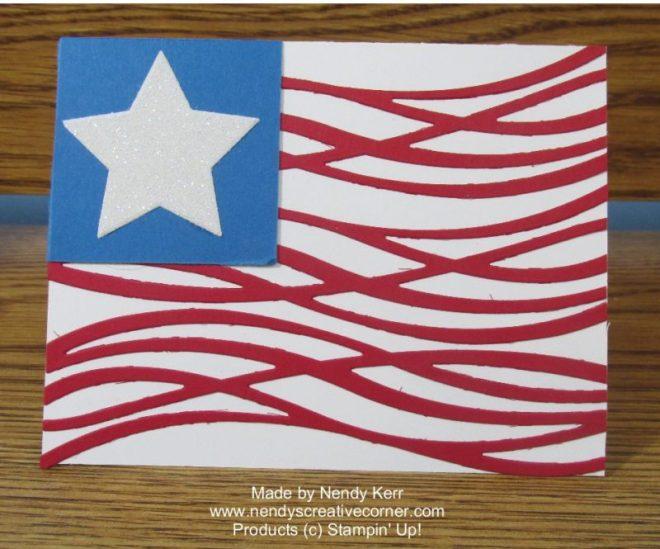 Swirly American Flag Card
