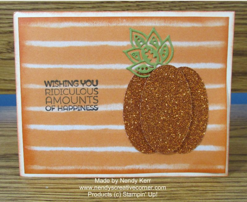 Glimmer Punch Art Pumpkin Card