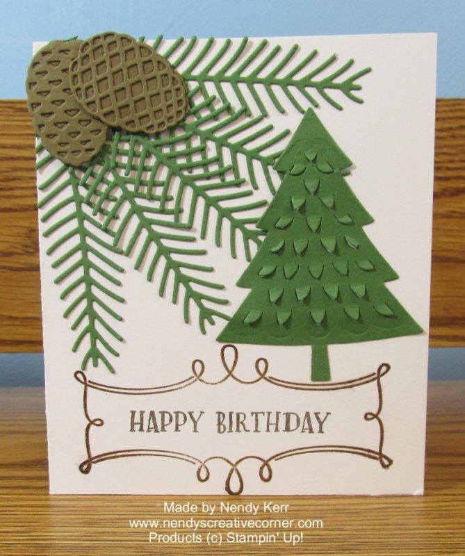 Pine Cones Birthday Card