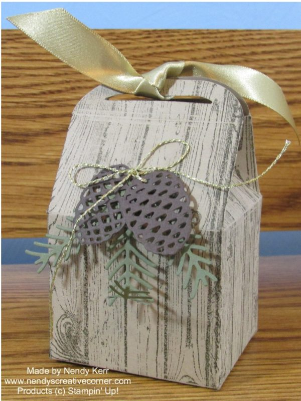 Fall Pine Branches and Pine Cones Bakers Box