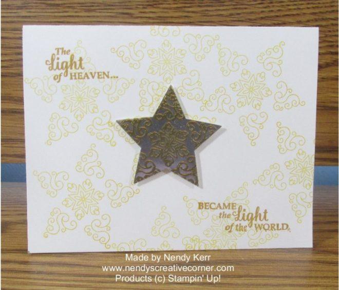 Festive Star Christmas Card