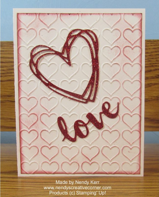 Love Heart Valentine or Wedding Card