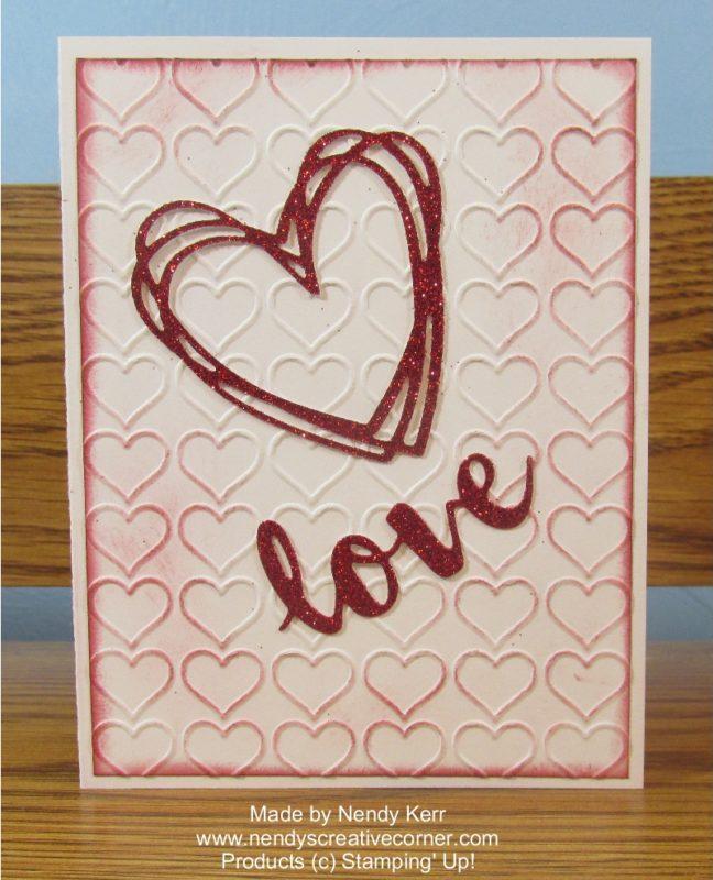 Love Heart Valentine or Wedding Card
