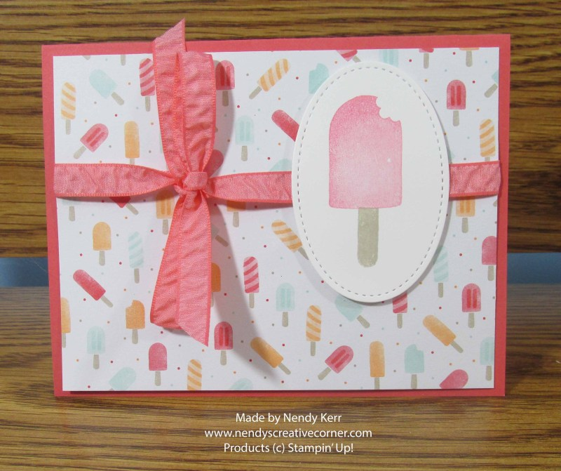 Ice Cream on a stick Card