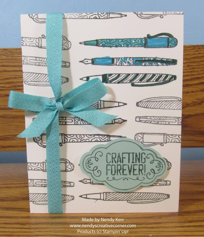 Crafting Forever Pen Card