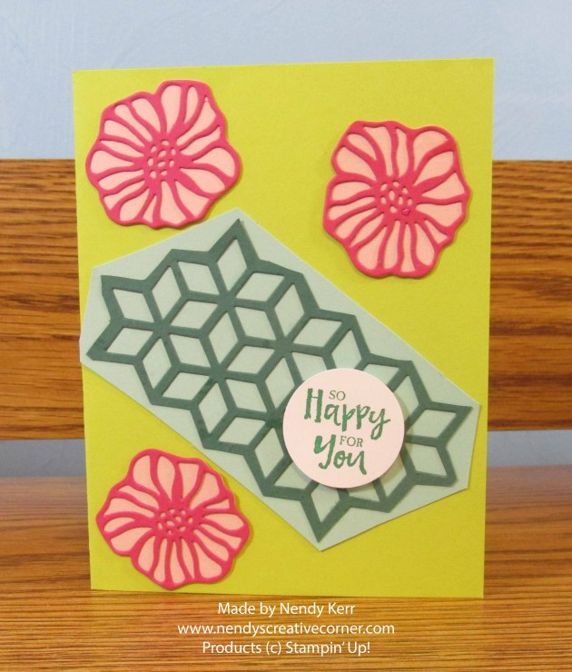 Flowers and Diamonds Card