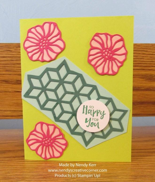 Flowers and Diamonds Card