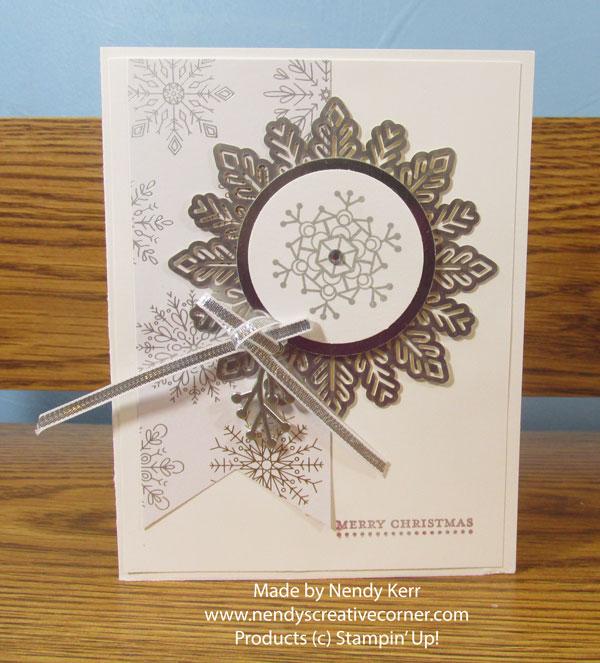 Silver Snowflake Christmas Card