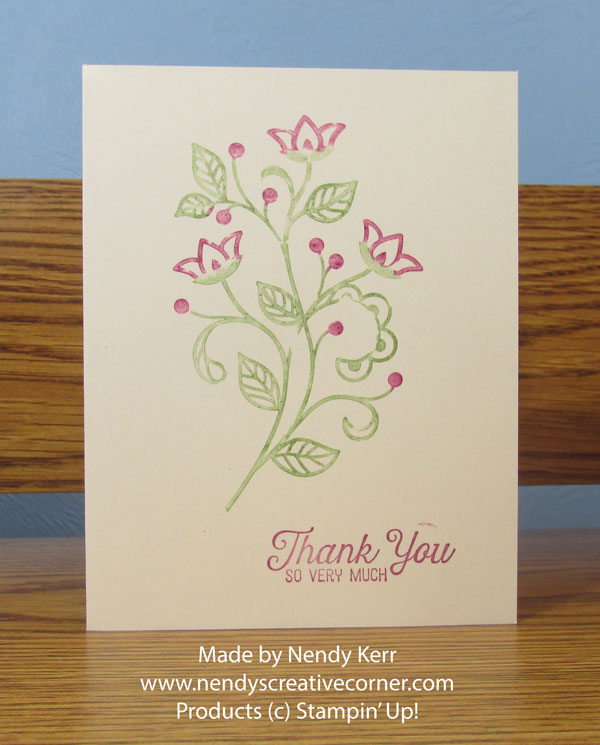 Flourishing Phrases Flower Thank You Card
