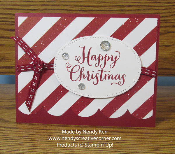 Easy Striped Christmas Card