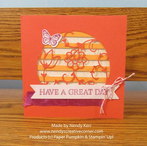December Paper Pumpkin card #2