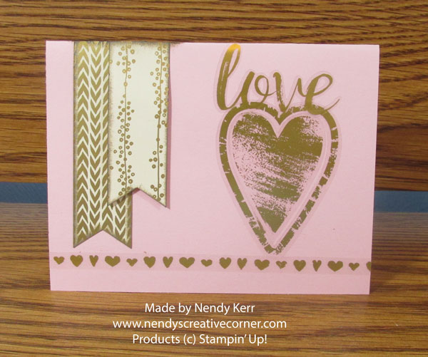 Pink & Gold Valentine Card