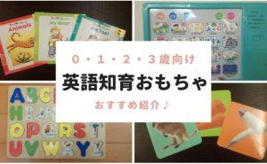 英語知育おもちゃのおすすめ0・1・2・3歳向け