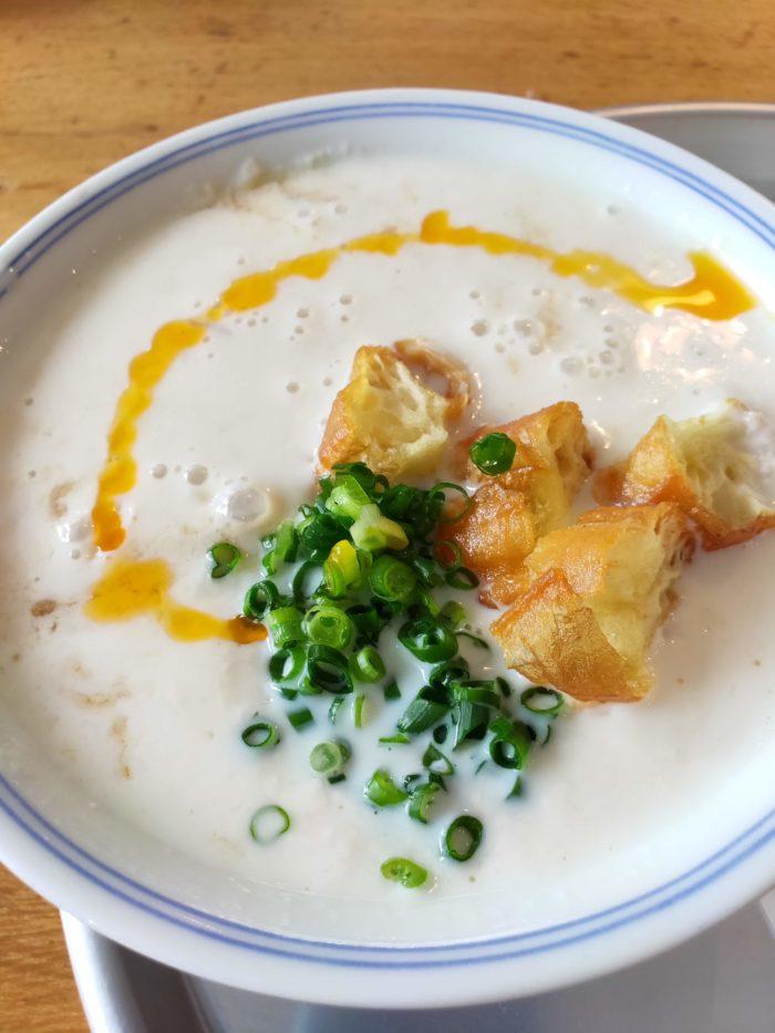 東京豆漿生活(トウジャン) 台湾で有名な豆乳スープを朝食で実食