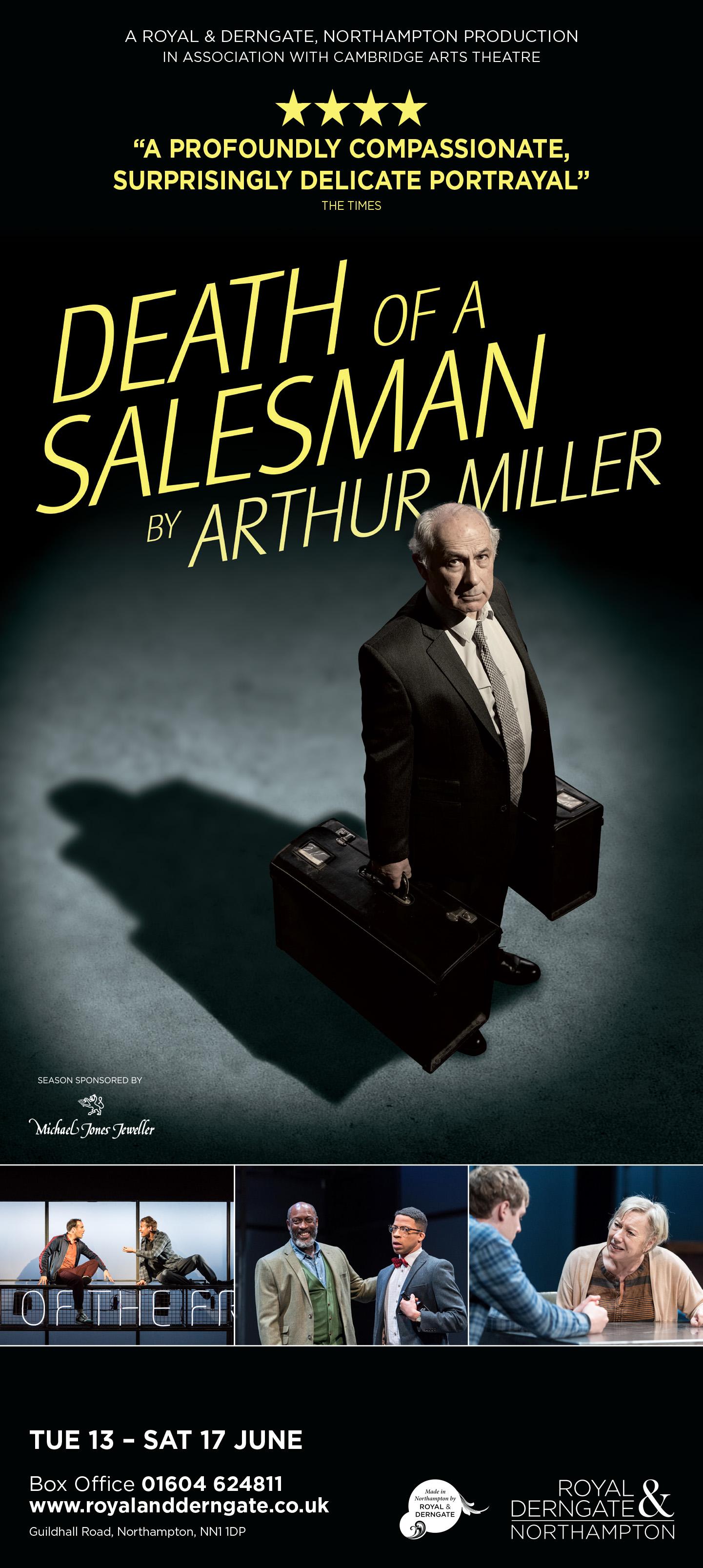 RD0845 Death Of A Salesman Nenequirer half page portrait advert.