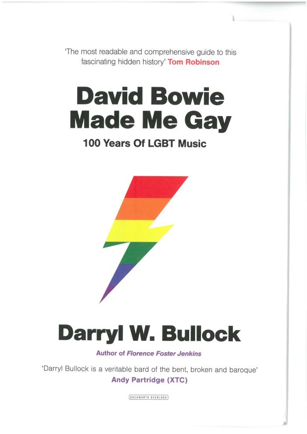 David Bowie Made Me Gay Darryl W. Bullock