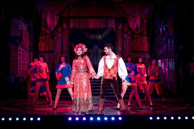 Aladdin - Zoe George and Jaymi Hemsley -photo by Graeme Braidwood