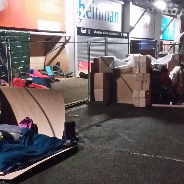 Street of shelters