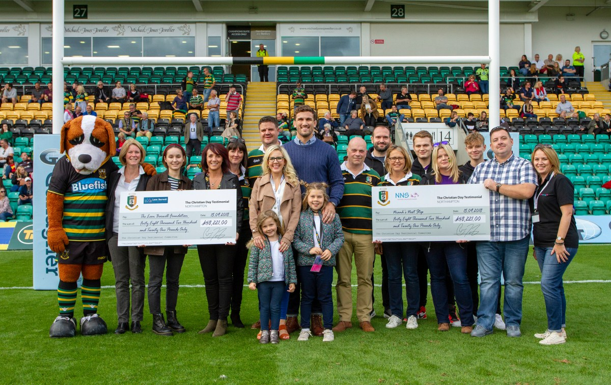 Christian Day testimonial year raises almost £100,000 for charities