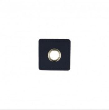 EYELET PATCH | Imitatieleer vierkant 10mm*4 - navy