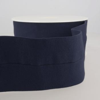 Voorgevouwen taille-elastiek | 60mm | Marine