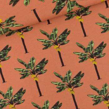 SYAS - FRENCH TERRY | Banana Palms - Amber Brown