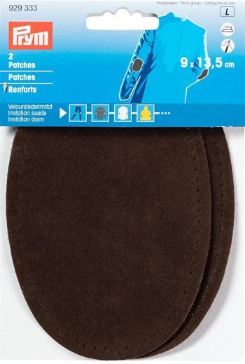 PATCHES LEDERIM. OPSTRIJKB 9 x 13,5cm - Donker bruin (2st)