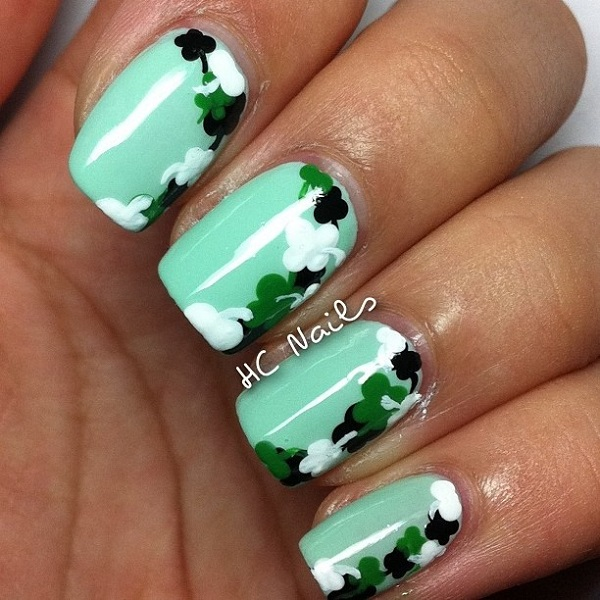How To Make A Four Leaf Clover On Your Nails Zoshwiki