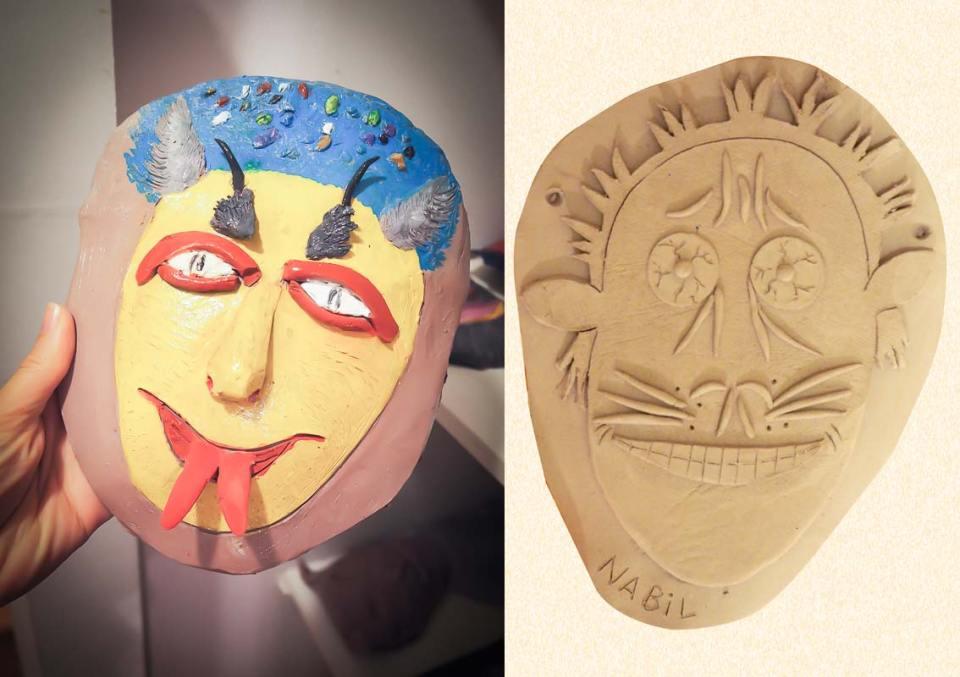 masques en argile