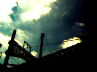 空と人工物の写真素材