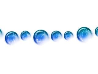 ガラス玉のような質感の十二星座線(6パターン)