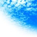 ひつじ雲の写真素材