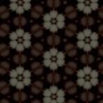 渋い雰囲気の花柄の壁紙(4パターン)